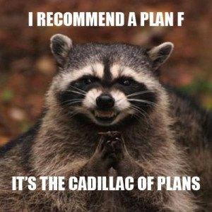 Evil Raccoon Plan F Meme