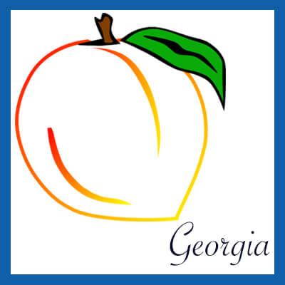 Georgia Peach Graphic