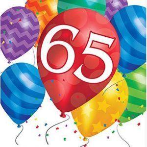 Turning 65 Birthday Balloon